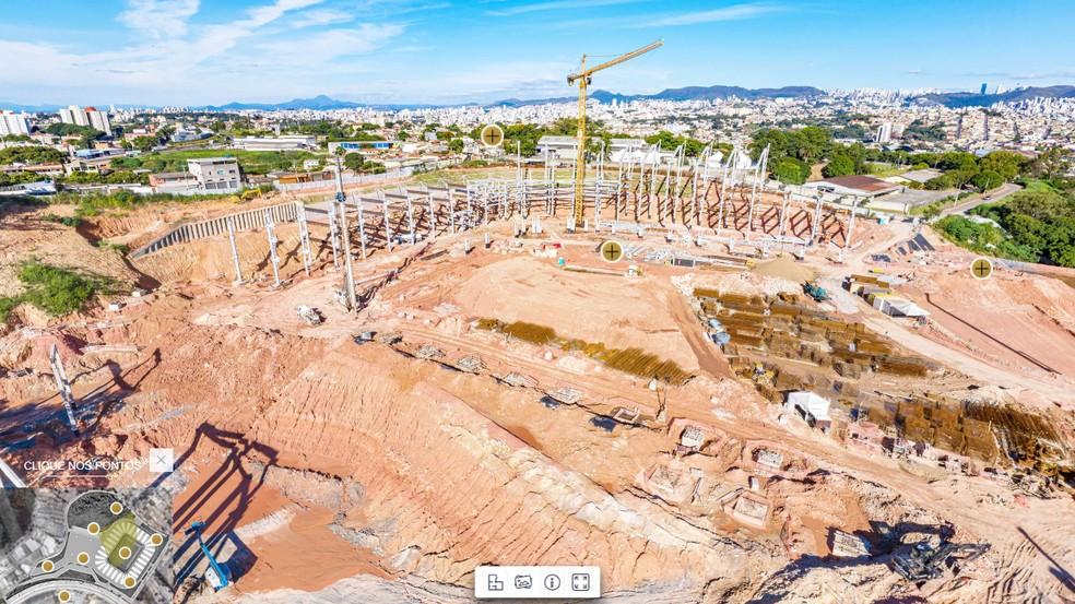 Panorama das obras da Arena MRV — Foto: Reprodução