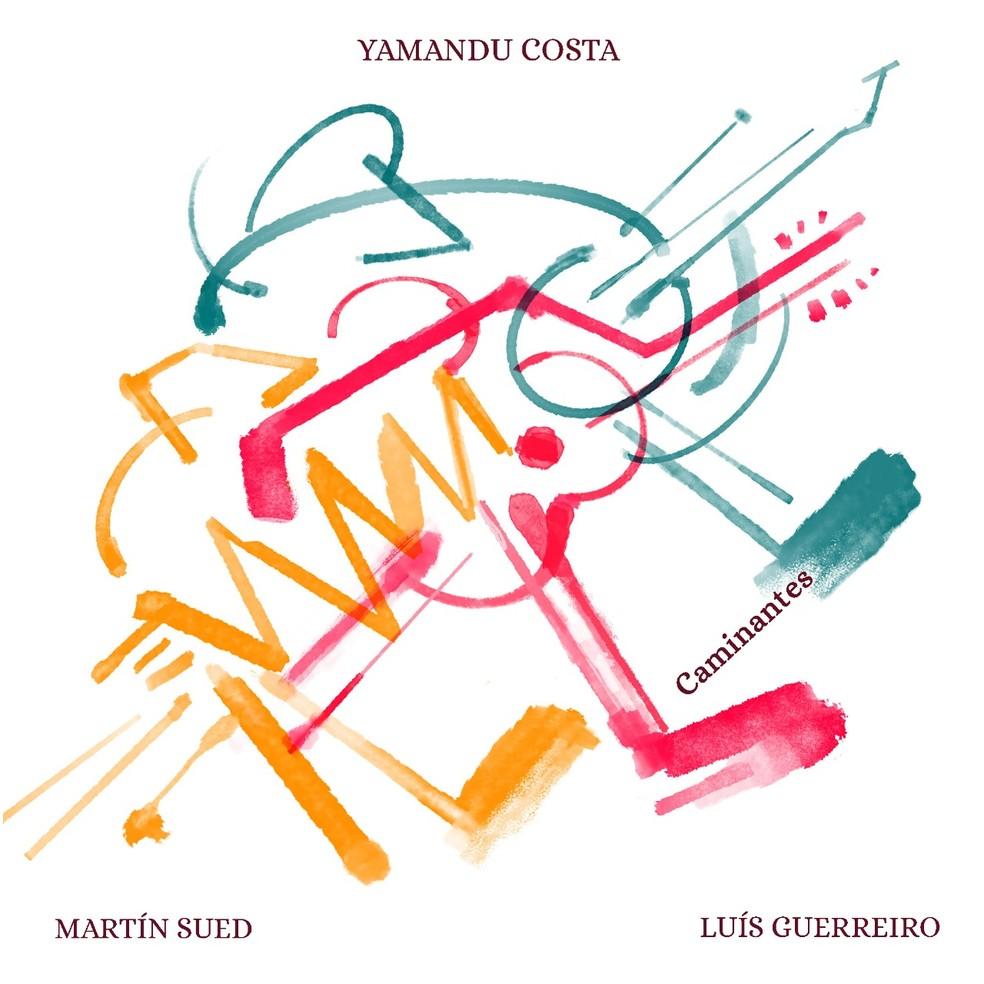 Capa do álbum 'Caminantes', de Yamandu Costa com Martín Sued e Luís Guerreiro — Foto: Divulgação