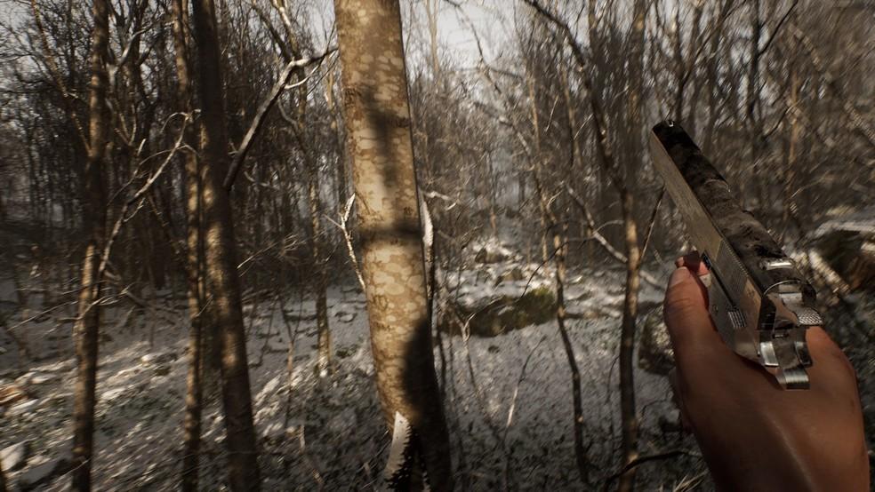 Abandoned conta a história de um homem que acordou em uma floresta sem saber como foi parar lá — Foto: Divulgação/Blue Box Game Studio
