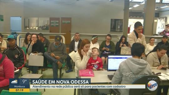 Após adiamento, Nova Odessa inicia exigência de cartão para serviços de saúde