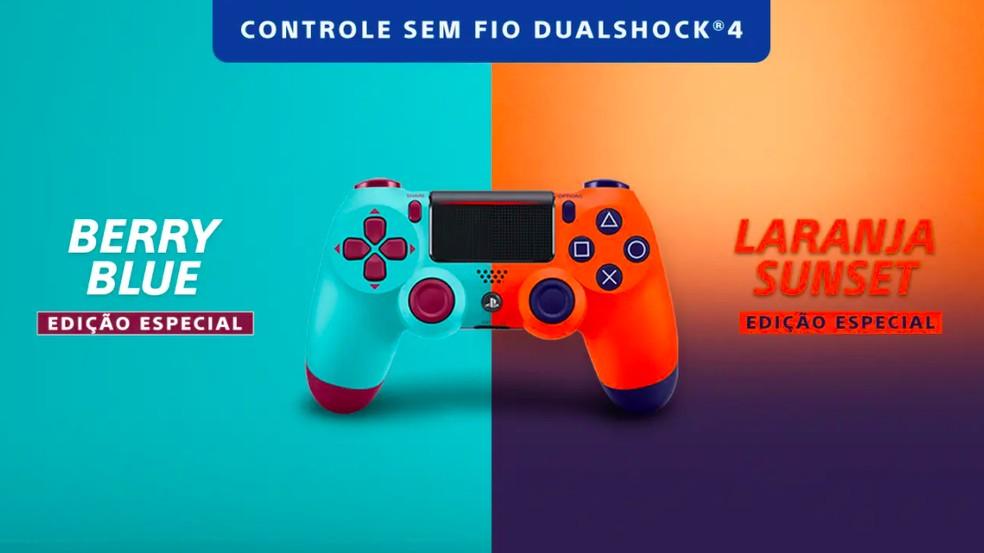 Duas novas cores do DualShock 4 chegam ao mercado — Foto: Divulgação/Sony