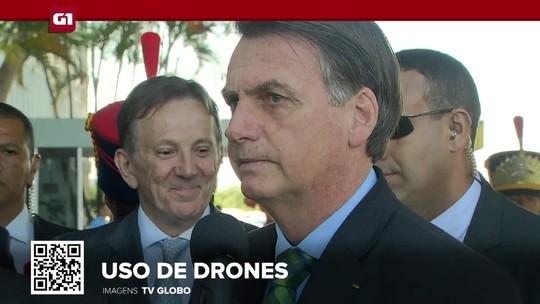 G1 em 1 Minuto: Bolsonaro quer permitir uso de drones em operações policiais