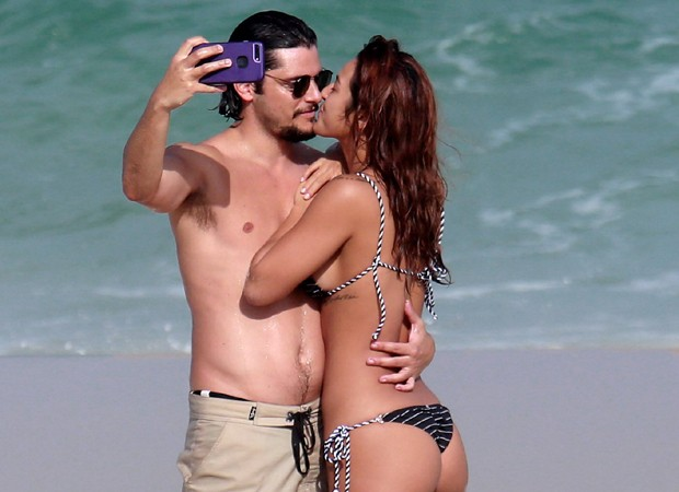 Bruno Gissoni e Yanna Lavigne (Foto: AgNews)