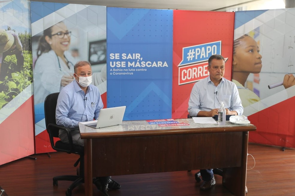 Rui Costa anuncia que alguns leitos de Covid-19 em Salvador serão revertidos para tratar outras doenças — Foto: Carol Garcia / GOVBA