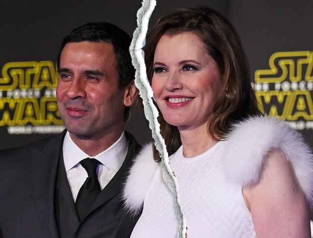 Geena Davis e Reza Jarrahy (Foto: Getty Images)