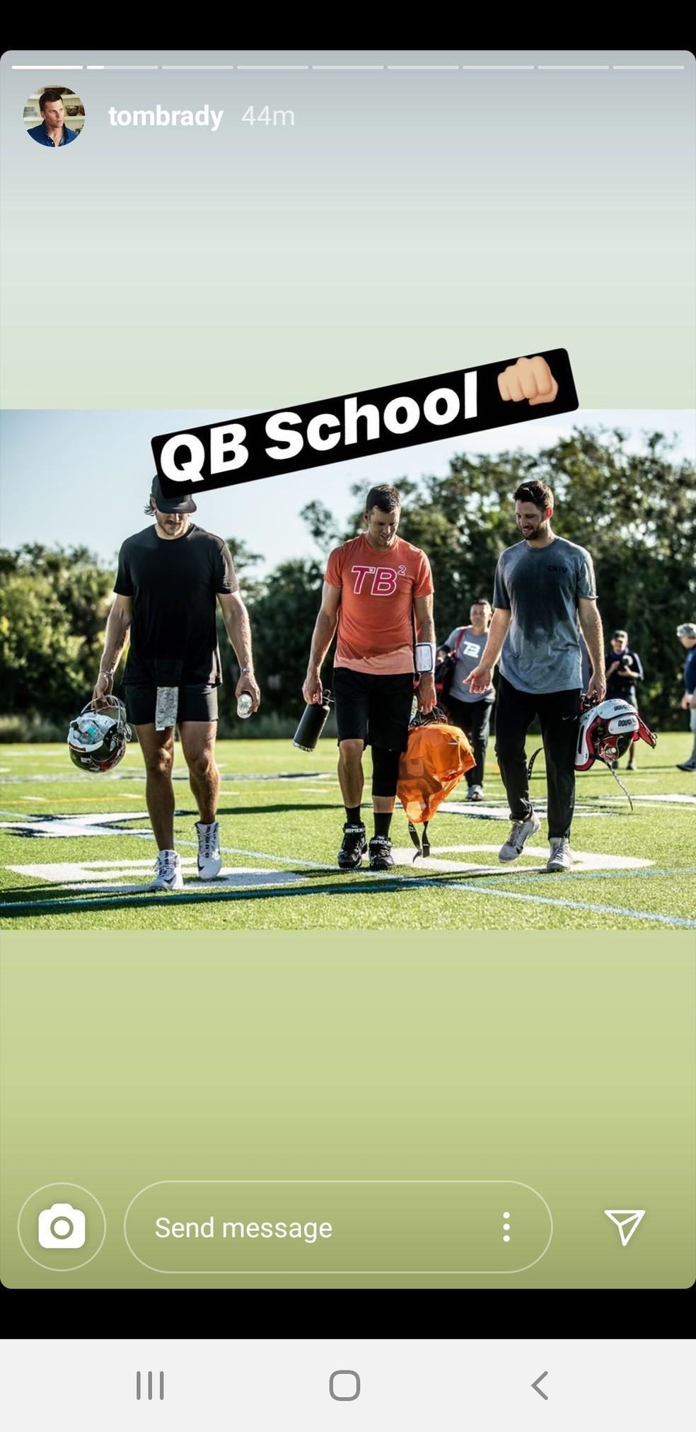 Imagens foram divulgadas pelo próprio quarterback — Foto: Reprodução/Instagram