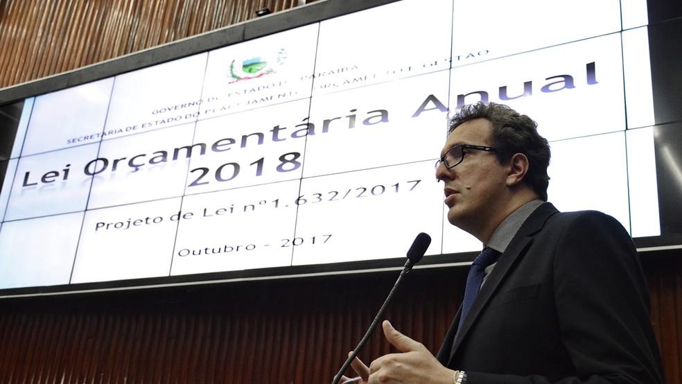 Waldson de Souza esteve na ALPB para debater LOA 2018 (Foto: Roberto Guedes/ALPB)