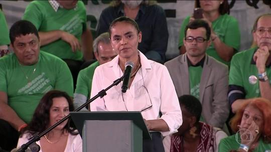 Rede confirma Marina para presidente e Eduardo Jorge para vice; candidata defende fim da reeleição e mandato de 5 anos