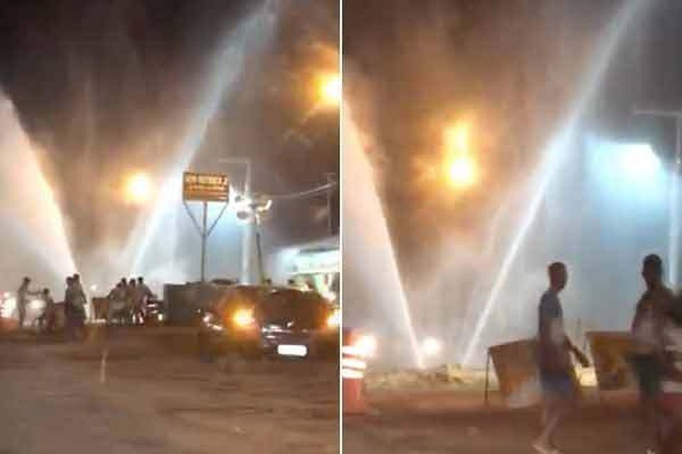 Vazamento em adutora mantém bairros de São Luís sem água (Foto: Reprodução)