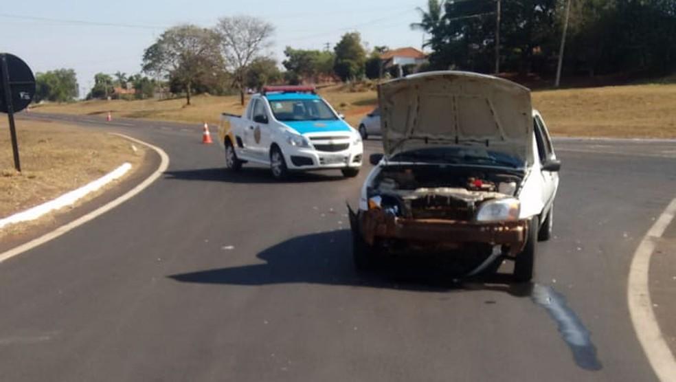 Vítimas de acidente em Pereira Barreto (SP) tiveram ferimentos leves (Foto: Wilson da Silva/Arquivo Pessoal)