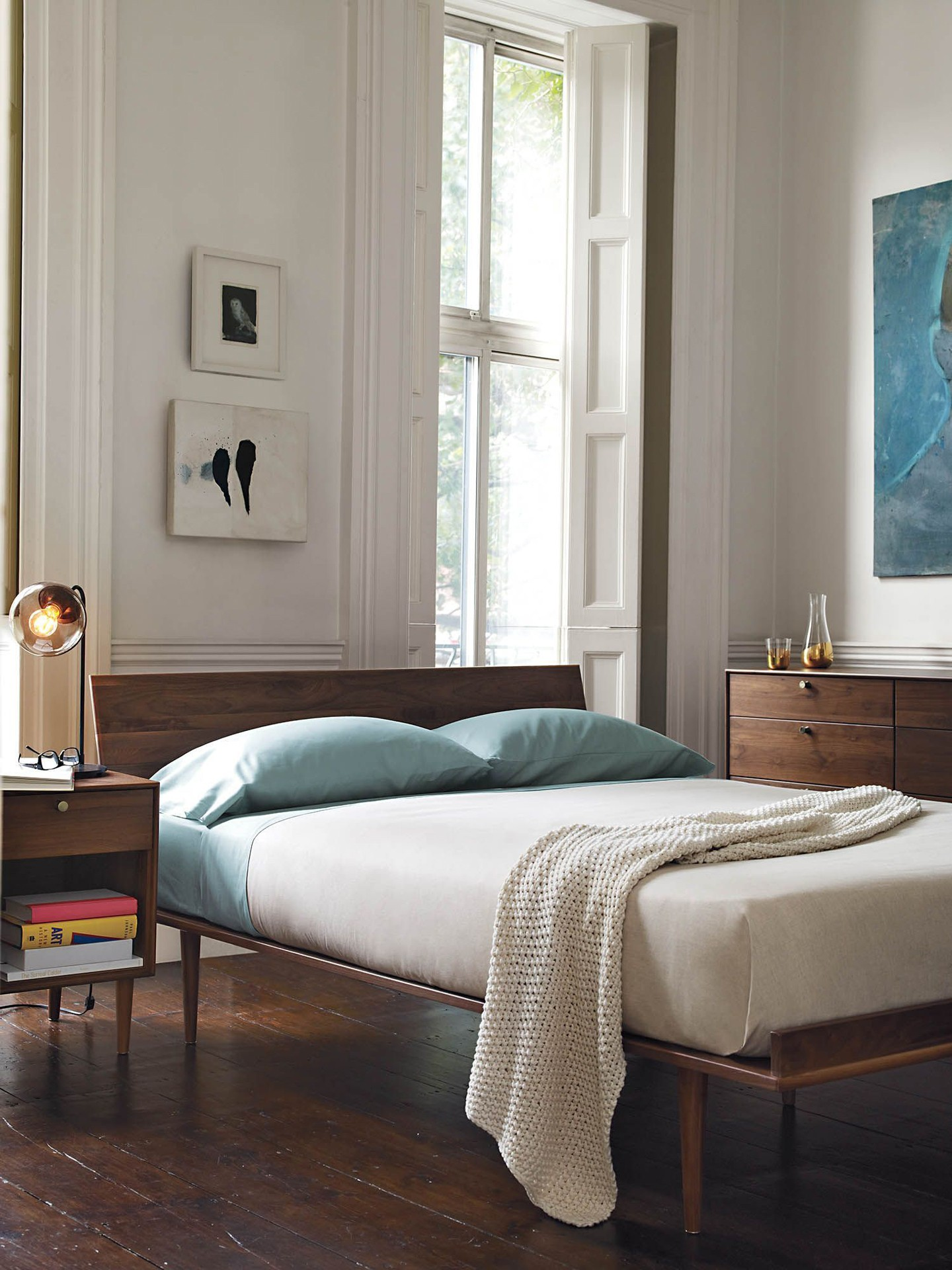 Décor do dia: tranquilidade dita decoração de quarto de casal (Foto: Reprodução/Pinterest)