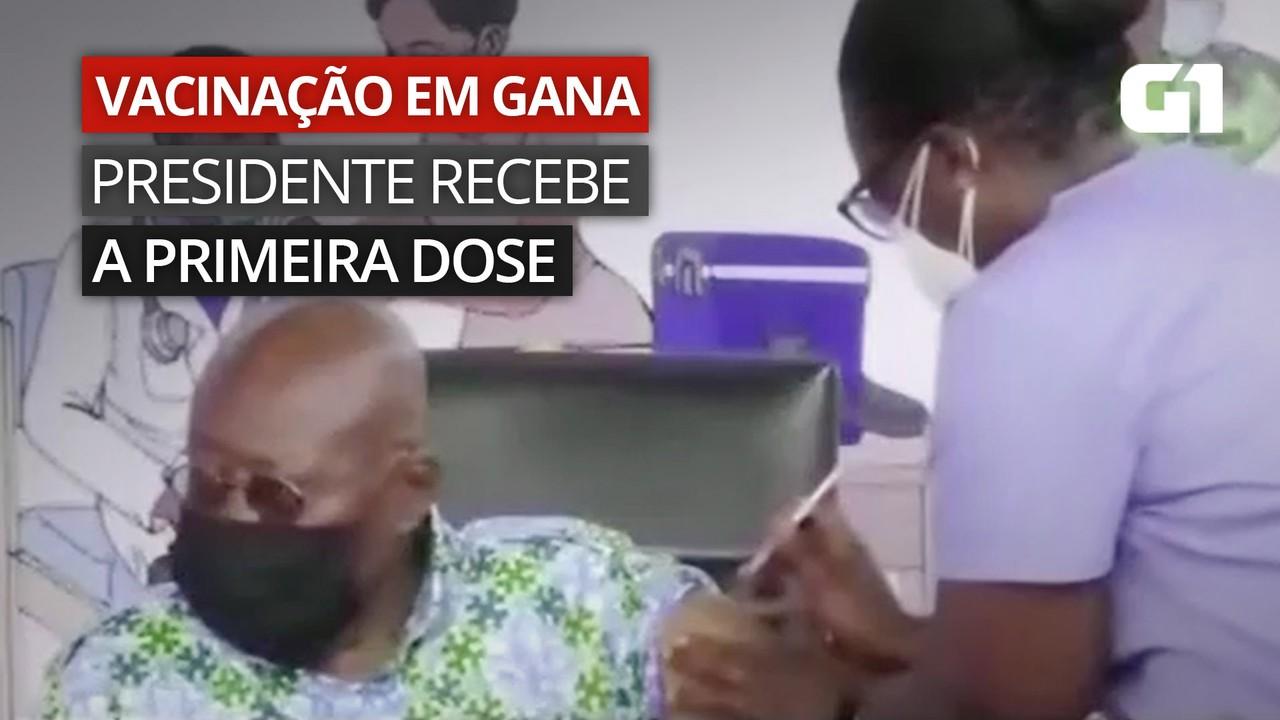 VÍDEO: Presidente de Gana recebe primeira dose de vacina contra Covid