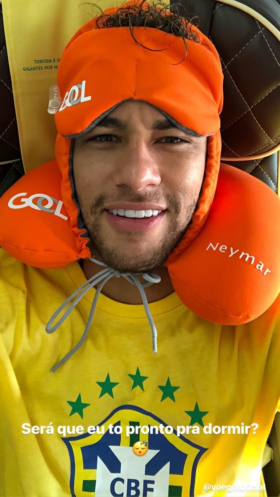 Neymar posta no avião (Foto: Reprodução / Instagram)