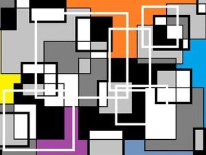 Resultado de imagem para arte com quadrados e retangulos: