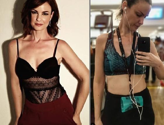 À esquerda, Carolina Kasting com o visual de 2018; à direita, o atual (Foto: Reprodução/Instagram)