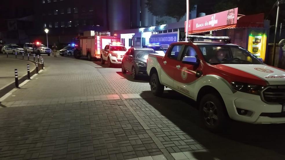 Caso ocorreu por volta das 23h de terça-feira — Foto: Divulgação/Corpo de Bombeiros