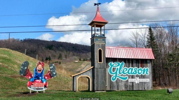 A estação de esqui Mont Gleason funciona desde 1968 (Foto: Lorcan Archer via BBC News Brasil)