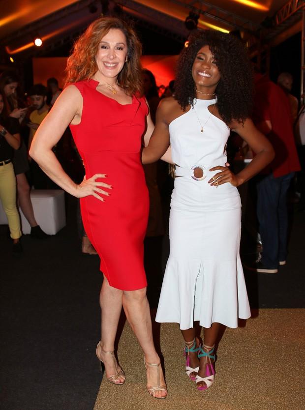 Claudia Raia e Erika Januza (Foto: Thiago Duran/AgNews)