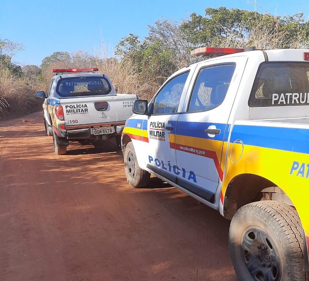 Homem matou a ex no bairro Jardim Primavera e depois se matou na zona rural de Arinos — Foto: Polícia Militar/Divulgação