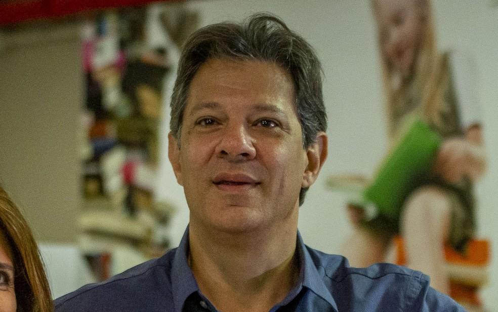 Fernando Haddad (PT), teve maioria dos votos em 92 municípios do Paraná — Foto: Suamy Beydoun/AGIF/Estadão Conteúdo
