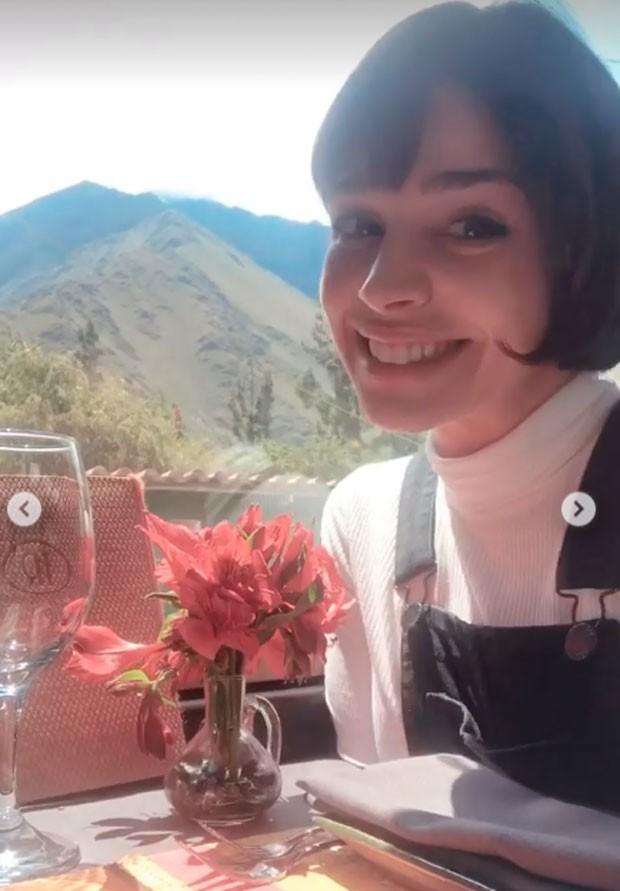 Sabrina Petraglia visita Machu PIcchu em viagem pré-casamento (Foto: Reprodução Instagram)