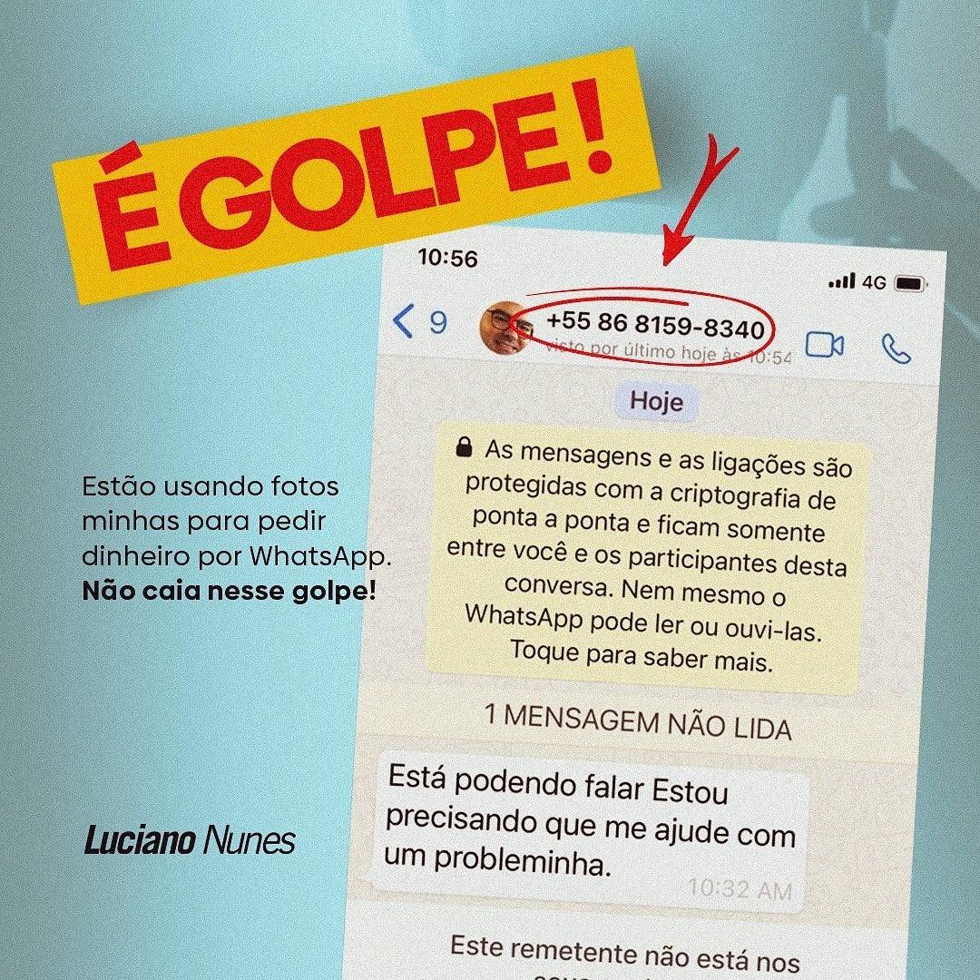 Ex-deputado do Piauí é vítima de golpe pelo Whatsapp e faz alerta a contatos