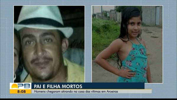 Homem e filha de 9 anos são mortos a tiros dentro de casa, em Aroeiras, na Paraíba — Foto: TV Paraíba/Reprodução