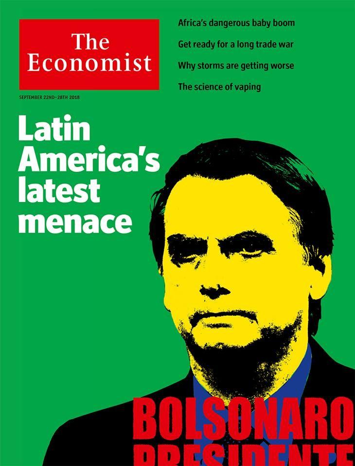 Capa da revista Economist com Bolsonaro (Foto: Reprodução/The Economist)