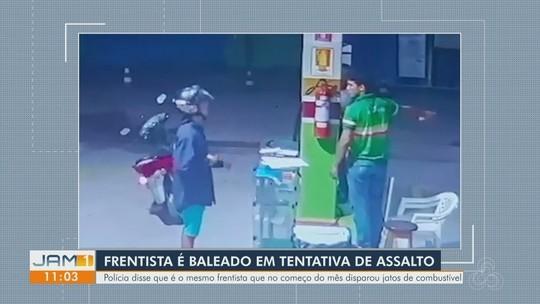 Frentista que jogou gasolina em ladrão é baleado em nova tentativa de assalto