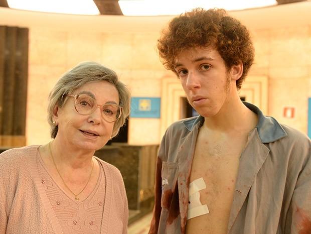 Beatriz Segall e João Côrtes em Os Experientes (Foto: TV Globo)