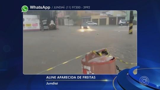 Chuva causa transtornos em cidades da região de Jundiaí