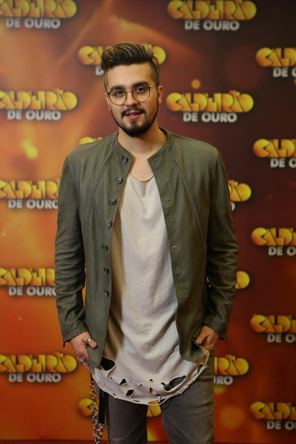 Luan Santana arrasa na gravação do 'Caldeirão de Ouro' (Foto: Isabella Pinheiro/Gshow)