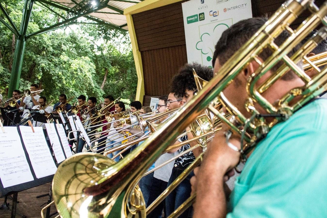 Encontro de trombonistas e espetáculo teatral são atrações do domingo (21) no Parque das Dunas em Natal