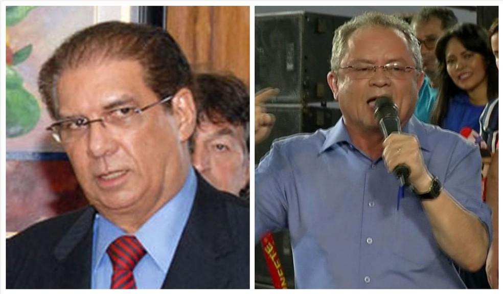 Jader Barbalho, do MDB, e Zequinha Marinho, do PSC, estão eleitos senadores no Pará — Foto: Arte e fotos: G1