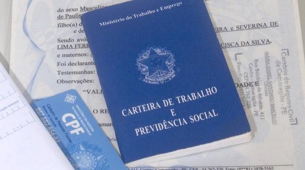 carteira de trabalho, emprego, trabalho (Foto: Prefeitura de Olinda)