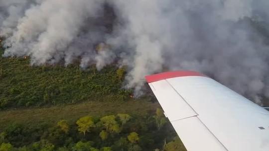 Incêndio atinge maior reserva particular do país localizada no Pantanal em MT; veja vídeo