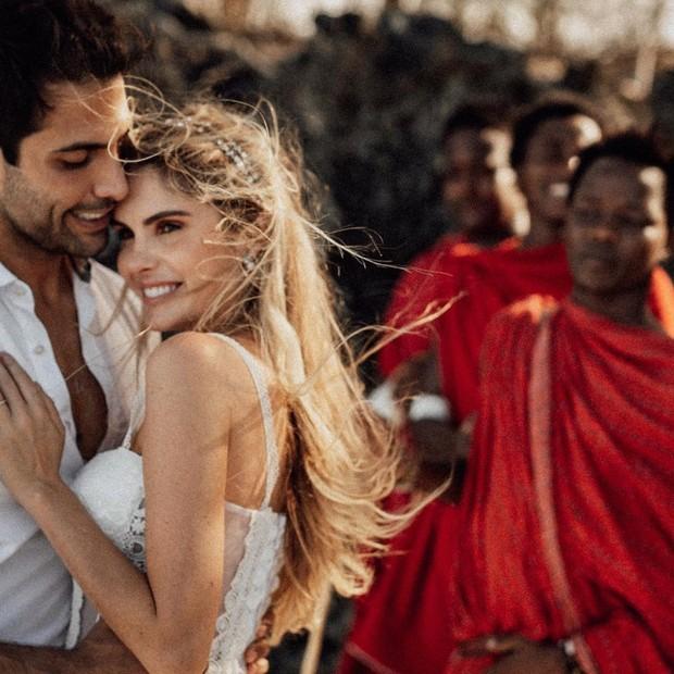 Bárbara Evans e Gustavo Theodoro se casam na Tanzânia (Foto: Zanzibar Wedding Photographer)