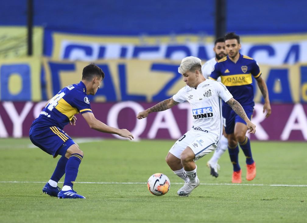 Santos empatou com o Boca na Bombonera e decide vaga na Vila — Foto: Staff images /CONMEBOL