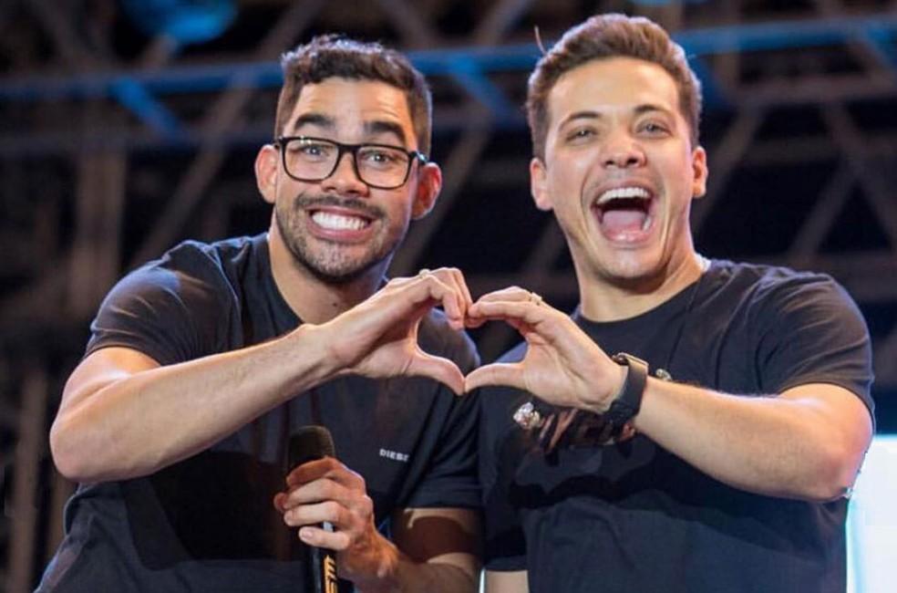 Gabriel Diniz e Wesley Safadão — Foto: Reprodução/Instagram/wesleysafadao