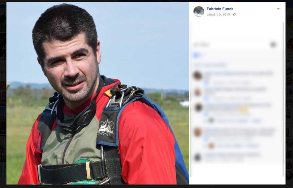 Paraquedista morava em Porto Alegre e ia a Novo Hamburgo para os saltos (Foto: Reprodução/Facebook)