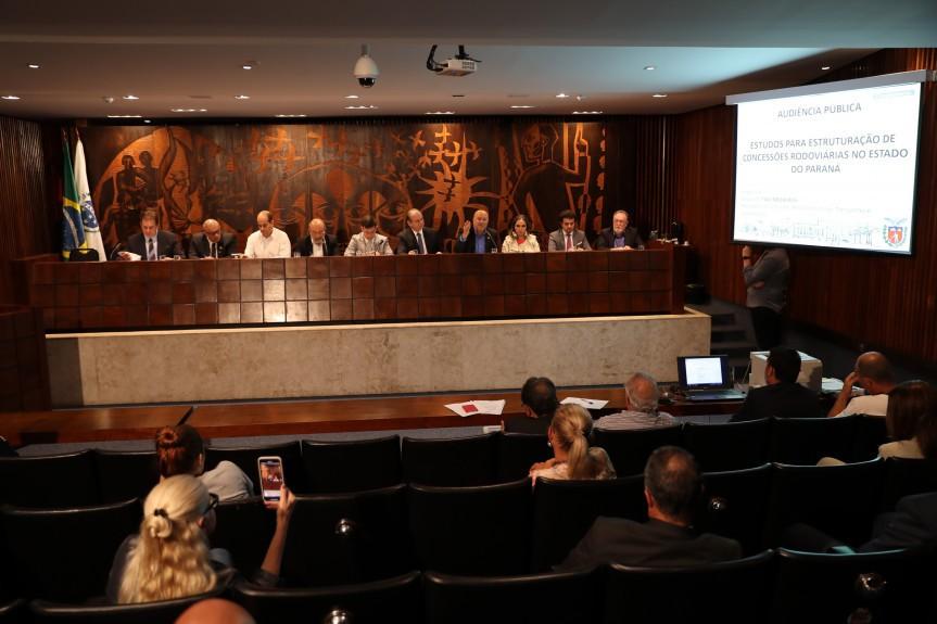 Audiência pública na Alep discute novo modelo de pedágio no Paraná