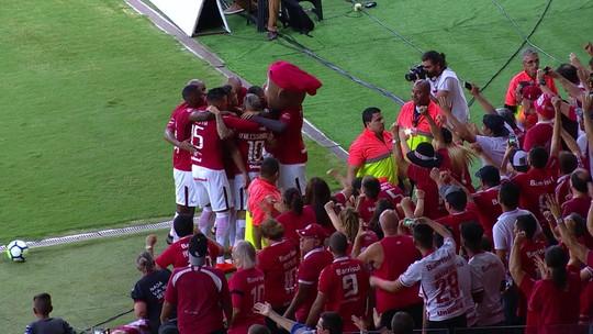 Os gols de Internacional 2 x 1 Vitória pela Copa do Brasil
