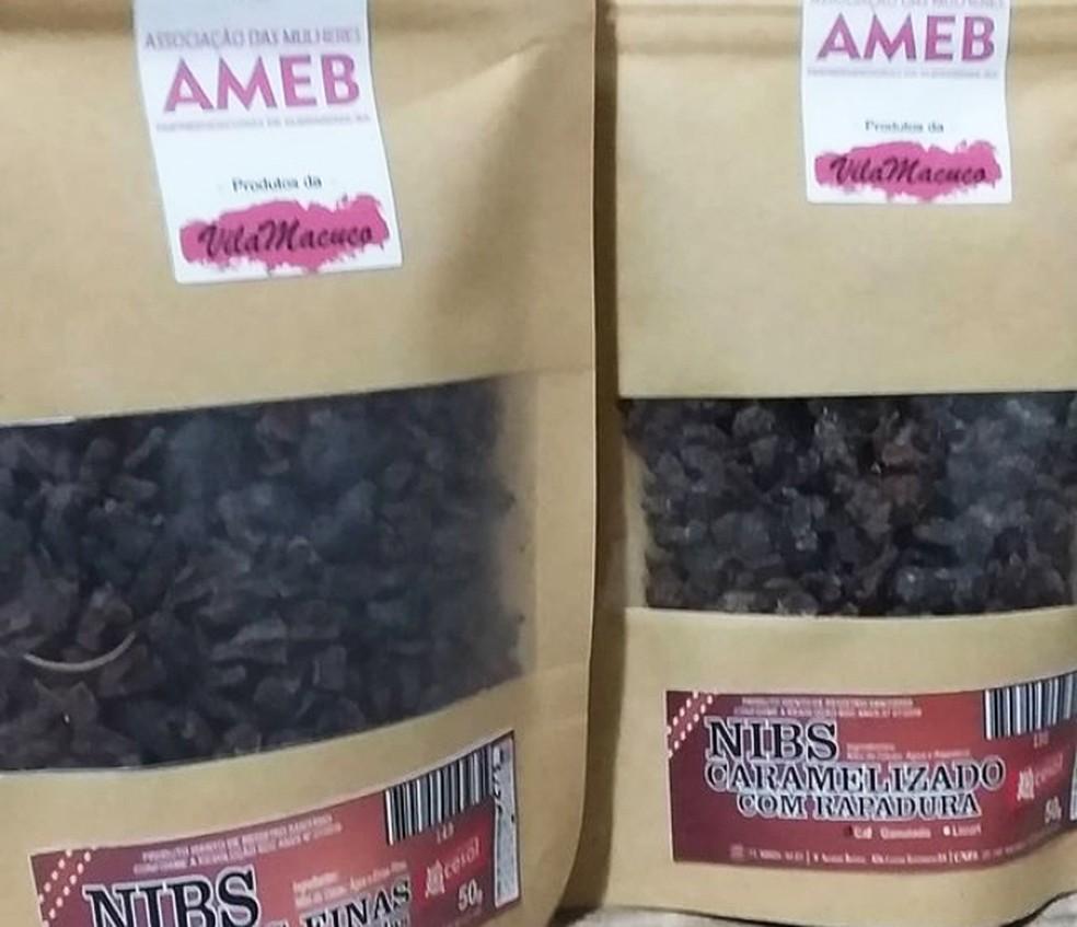Ameb também produz nibs de cacau entre outros produtos orgânicos — Foto: Arquivo Pessoal