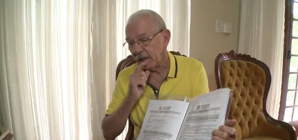 Ivo lug é calouro da UFSC aos 79 anos de idade — Foto: NSC TV/Reprodução
