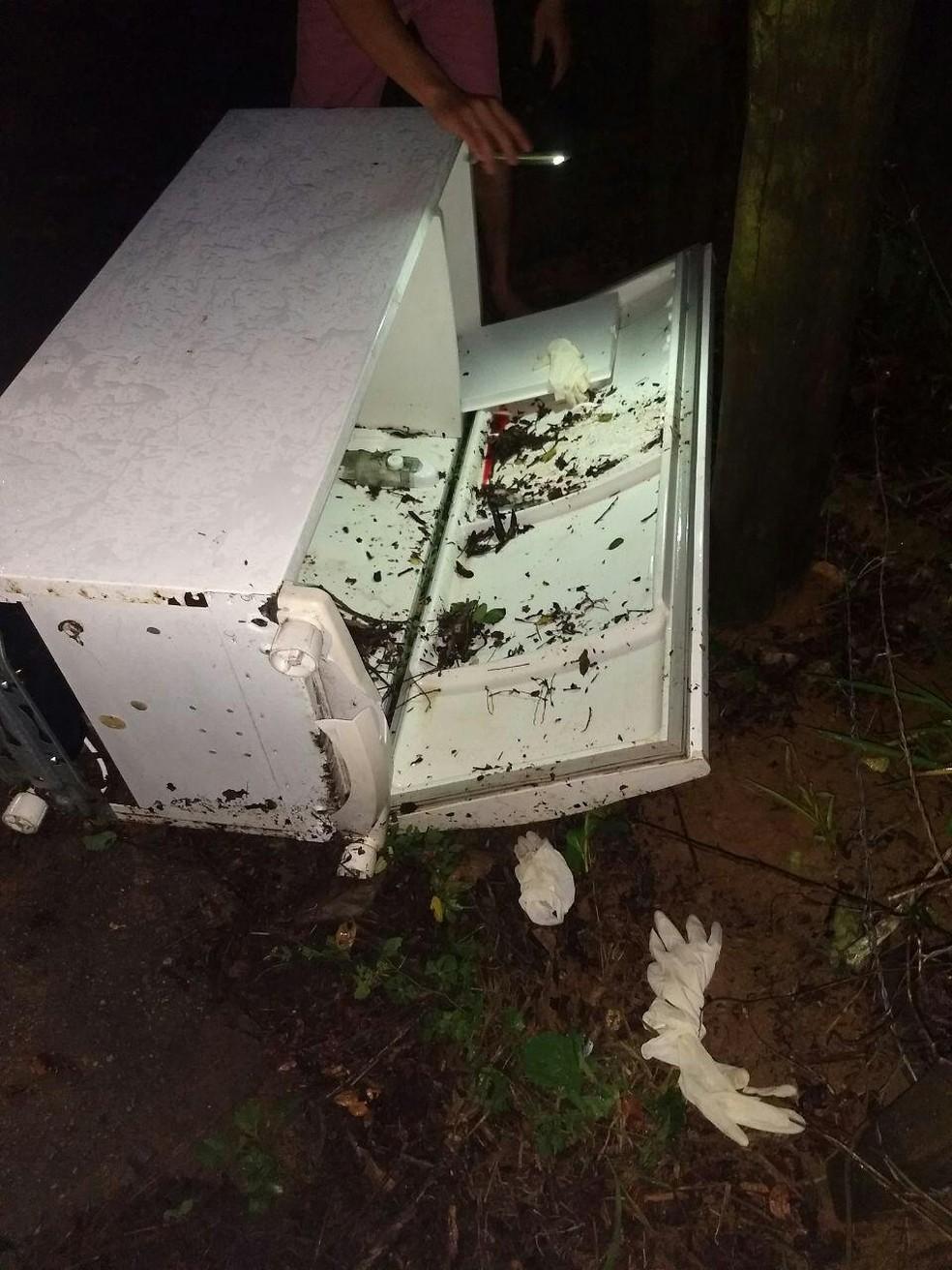 Corpo de jovem foi encontrado dentro de geladeira em Itatiba (Foto: Itatiba News/Divulgação )