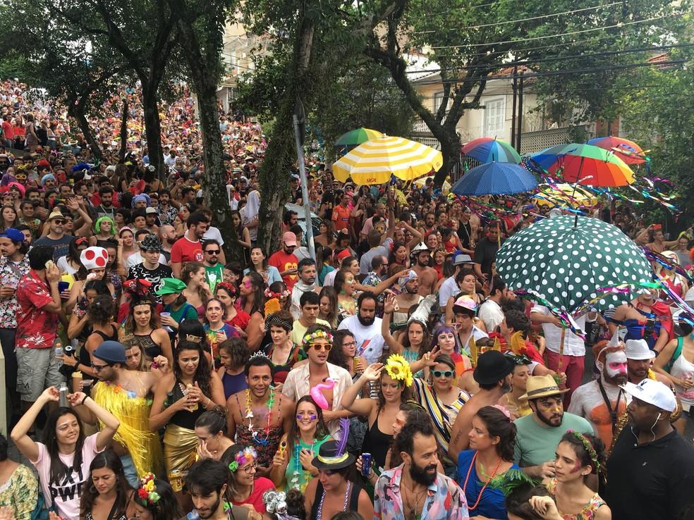 Multidão de foliões curtem o Cerca Frango (Foto: Ana Carolina Moreno/G1)