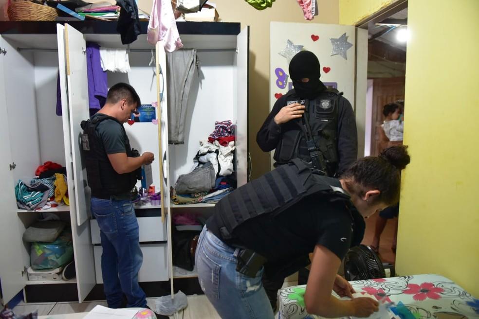 Operação cumpriu mandados em Rio Branco, Plácido de Castro, Acrelândia e Cruzeiro do Sul — Foto: Divulgação/Polícia Civil