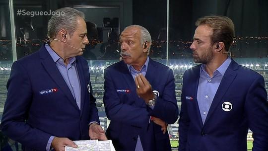 """Comentaristas criticam escolhas de Jorge Jesus para o Flamengo, e Júnior dispara: """"Professor pardal"""""""