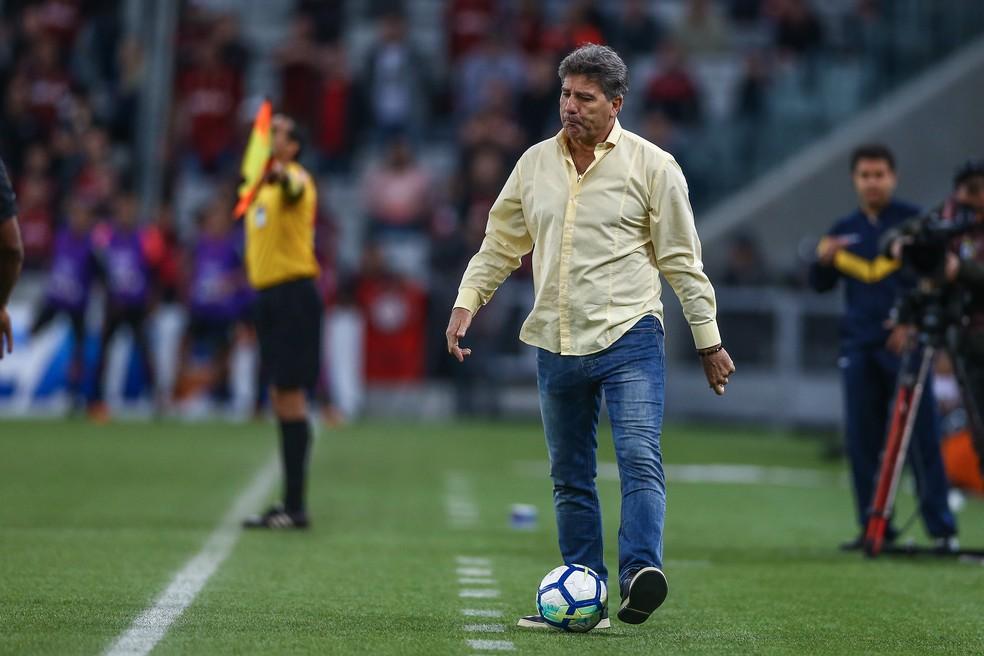 Renato Gaúcho volta a frisar importância do planejamento (Foto: Lucas Uebel/Grêmio/Divulgação)
