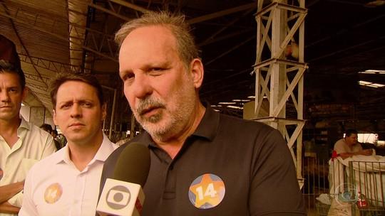 Armando promete assistência de crédito a pequenos produtores durante campanha no Ceasa